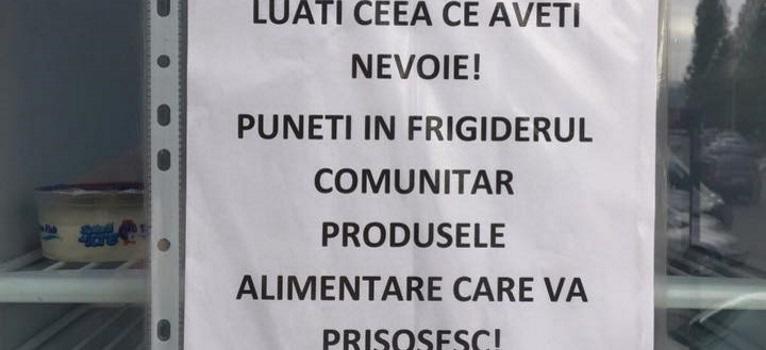 Imparte cu ceilalti: Primul frigider comunitar din Romania