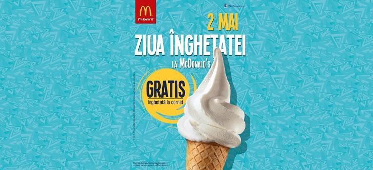 Sarbatoreste pe 2 mai Ziua Inghetatei la McDonald's