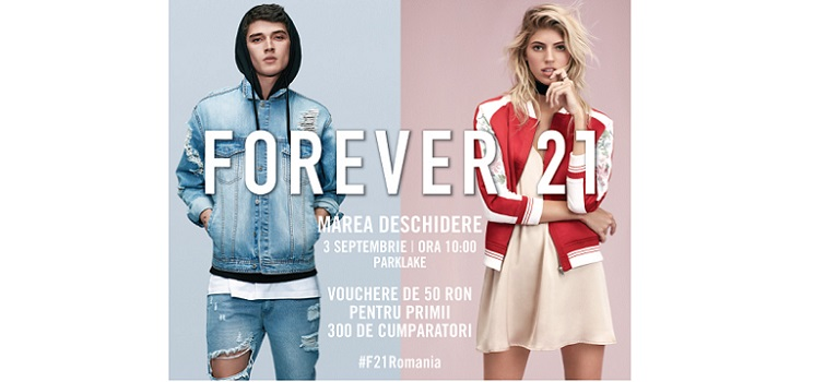 FOREVER 21 vine in Romania pe 3 septembrie