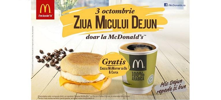 McDonald's e Gata de Buna Dimineata si face cinste de Ziua Micului Dejun