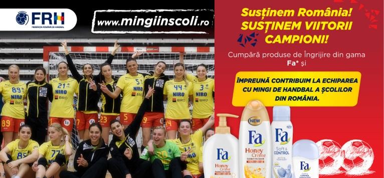 Mingi in scoli, campania pentru viitorii campioni ai handbalului romanesc