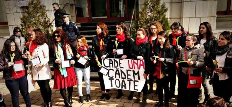 Visez la un protest amplu al femeilor din Romania – tara unde o femeie este batuta la 30 de secunde