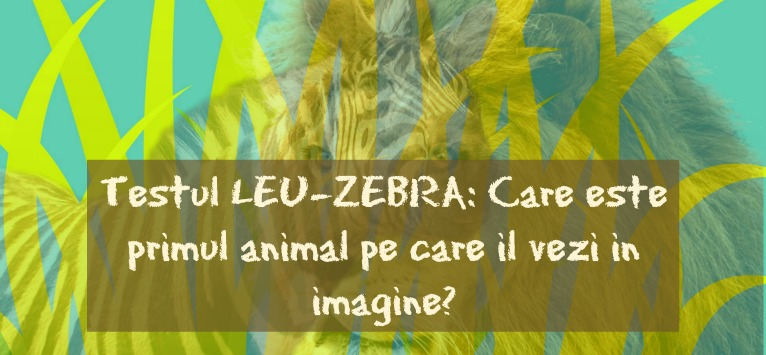 Testul Leu-Zebra: Care este primul animal pe care il vezi in imagine?