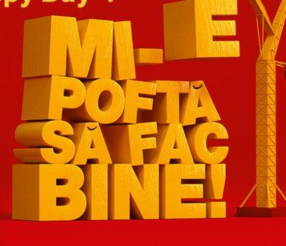 'Mi-e pofta sa fac bine' - intre 20-26 noiembrie impreuna cu Fundatia pentru Copii Ronald McDonald