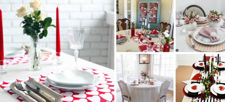 32 idei de aranjare a mesei pentru Ziua Indragostitilor sau pentru o cina romantica
