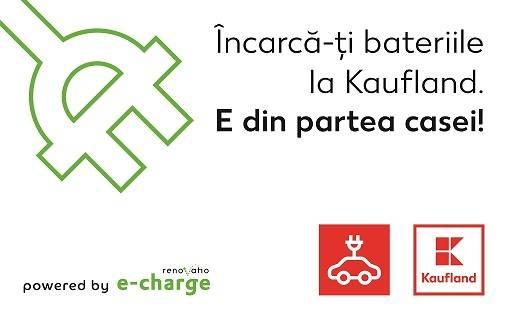 Kaufland Romania va suporta costurile de incarcare a masinilor electrice in reteaua e-charge pentru clientii sai