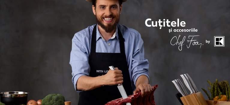 Acum oricine poate gati precum un chef, cu accesoriile si cutitele din linia Chef Foa by Kaufland