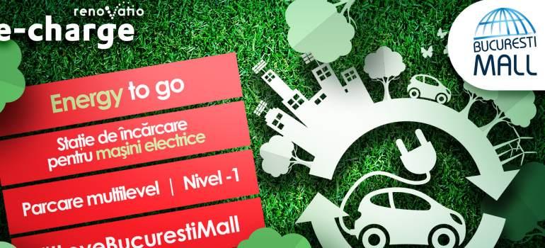 Statie de incarcare gratuita pentru masini electrice la Bucuresti Mall