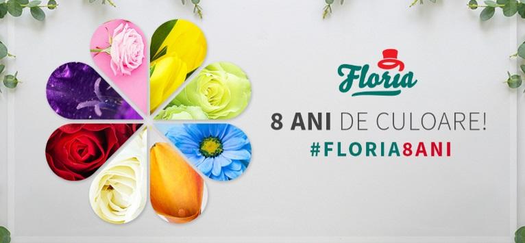 Floria sărbătorește 8 ani de culoare