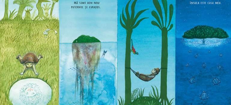 'Robinson' de Peter Sís - o carte despre puterea vindecătoare a poveştilor