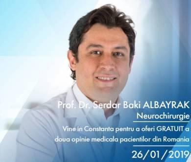 Pentru pacienții diagnosticați cu tumori cerebrale sau Parkinson: Neurochirurgul Serdar Baki Albayrak oferă a doua opinie