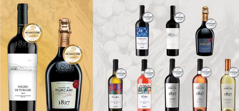 10 medalii pentru vinurile Purcari la Mundus Vini 2019