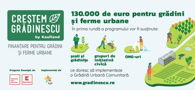 Kaufland Romania lanseaza 'Crestem Gradinescu'