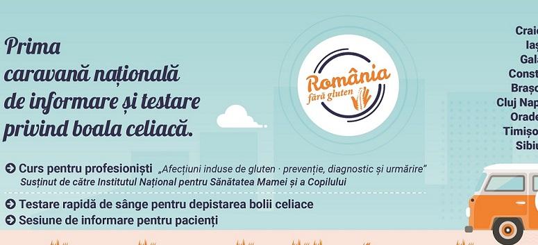 Primacaravană de informare și testare gratuită pentru boala celiacă în România
