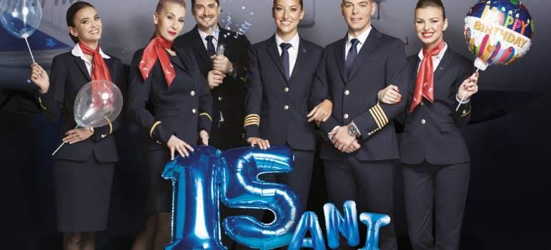 "15 ani de Blue Air marcați prin programul ""Blue Benefits"""