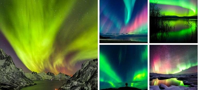 Aurora boreala: Imagini unice cu unul dintre cele mai spectaculoase fenomene optice de pe planeta