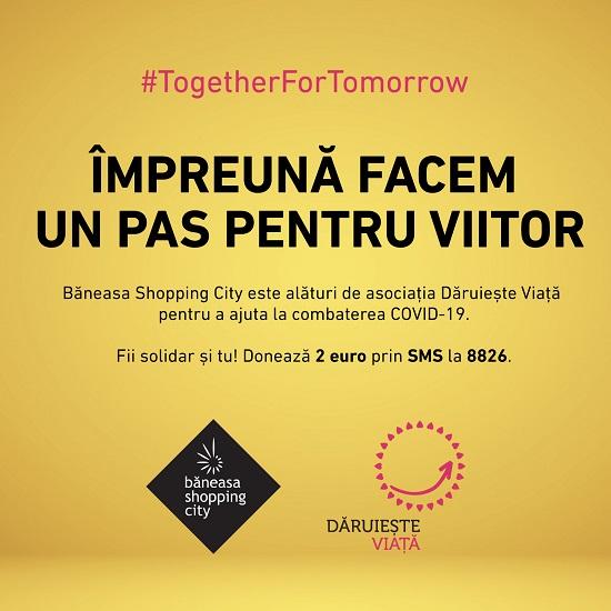 Baneasa Shopping City se alatura luptei impotriva COVID-19 in parteneriat cu Asociatia Daruieste Viata