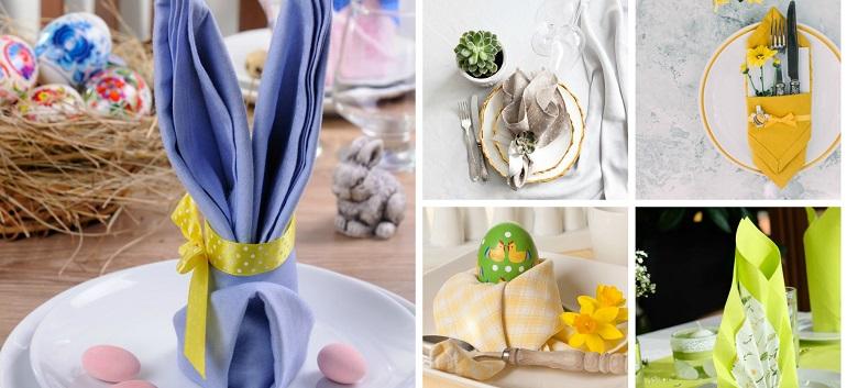 Poti face cei mai frumosi iepurasi, flori sau cuiburi de oua: Idei de impaturire a servetelelor pentru masa de Pasti