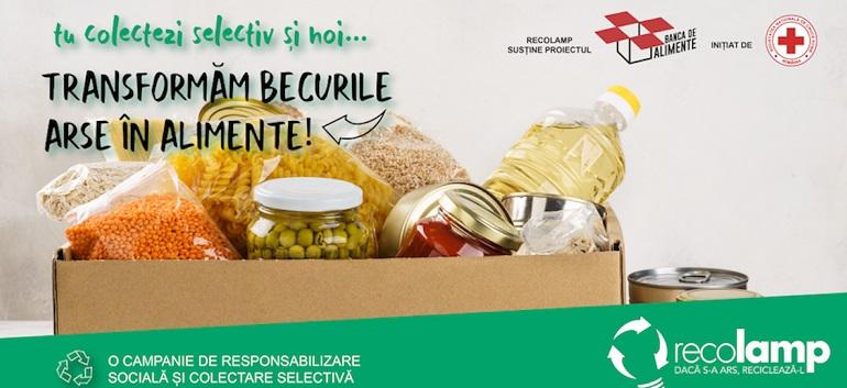 Campanie Recolamp: În următoarele 3 luni, becurile arse se transformă în alimente pentru persoanele defavorizate