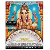 Delicii culinare indiene in weekend la Letters Bar