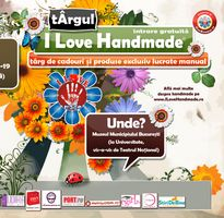 Targ I Love Handmade la Palatul Sutu