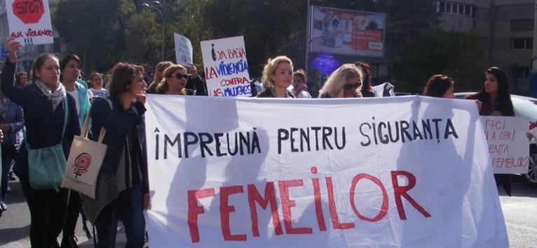 'Împreună pentru siguranța femeilor' - a 4-a ediție a marșului de condamnare a violenței împotriva femeilor, la București