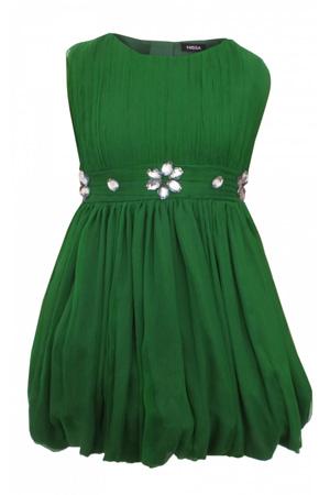 10 Rochite de vara pentru fetite frumoase: Rochie verde NISSA