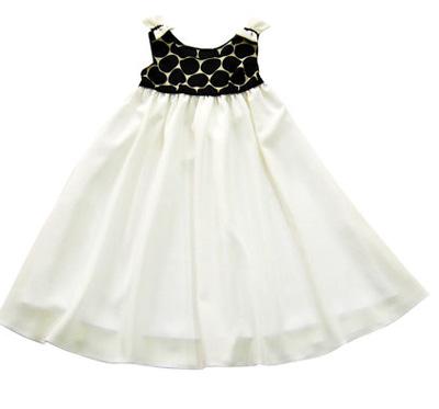 10 Rochite de vara pentru fetite frumoase: Rochita alb cu negru