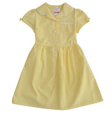 10 Rochite de vara pentru fetite frumoase: Sarafan galben din bumbac