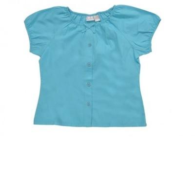 20 Hainute de vara in tendinte pentru copii: Bluza satinata albastra
