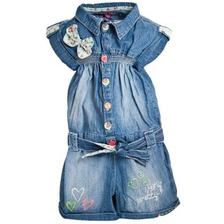 20 Hainute de vara in tendinte pentru copii: Salopeta jeans pentru fetite