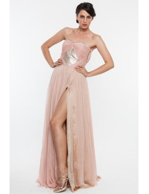 Cum ma imbrac la nunta sau botez? 11 rochii de seara: Rochie superba din matase Nicole Enea
