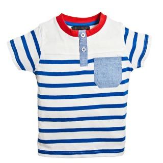 20 Hainute de vara in tendinte pentru copii: Tricou cu dungi pentru baietei