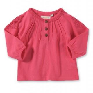 20 Hainute de vara in tendinte pentru copii: Bluza roz pentru fetite, din bumbac si dantela