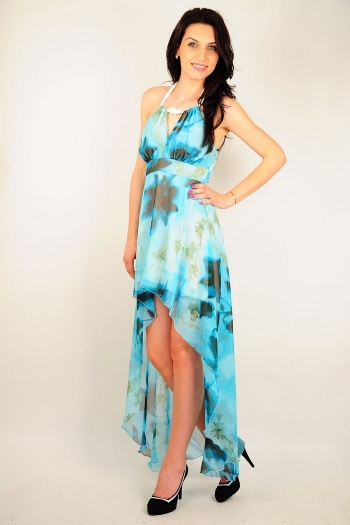 Cum ma imbrac la nunta sau botez? 11 rochii de seara: Rochie de seara cu imprimeu floral