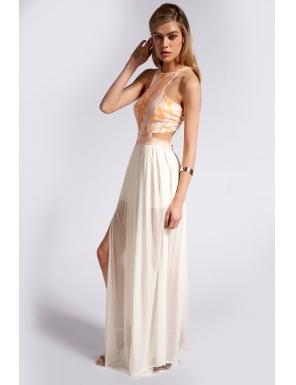 Cum ma imbrac la nunta sau botez? 11 rochii de seara: Rochie superba, maxi, ivorie