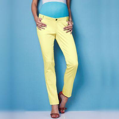 Moda pentru gravidute - Tendintele verii 2013: Pantaloni drepti pentru gravide, din bumbac