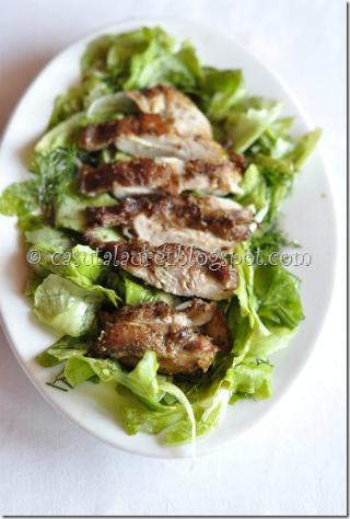 5 retete speciale pentru iubitoarele de salate:  Salata de pui Cajun