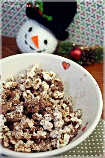 5 gustari de rontait in timp ce urmaresti Jocurile Olimpice:  Popcorn cu cacao si scortisoara