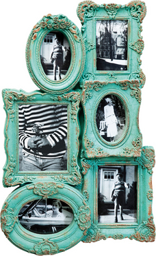 Shopping special: 16 rame foto pentru locuinta ta:  Frame Barock Chic Multiple 6 Turqouise