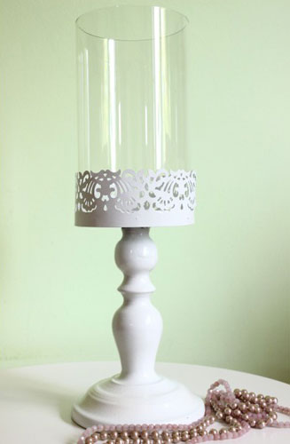 Stilul shabby chic: 18 accesorii decorative incantatoare: Suport lumanari Style White