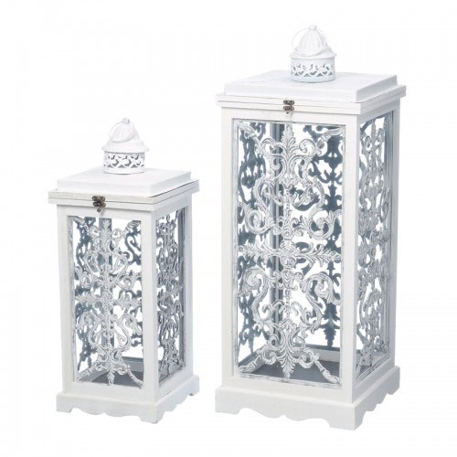 Stilul shabby chic: 18 accesorii decorative incantatoare: Felinare albe Freedom