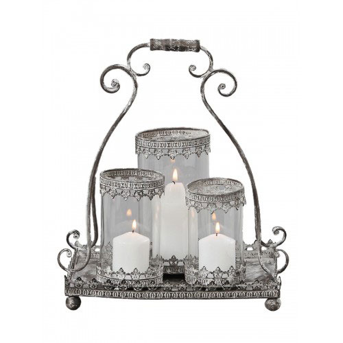 Stilul shabby chic: 18 accesorii decorative incantatoare: Felinar antichizat Katrina H42