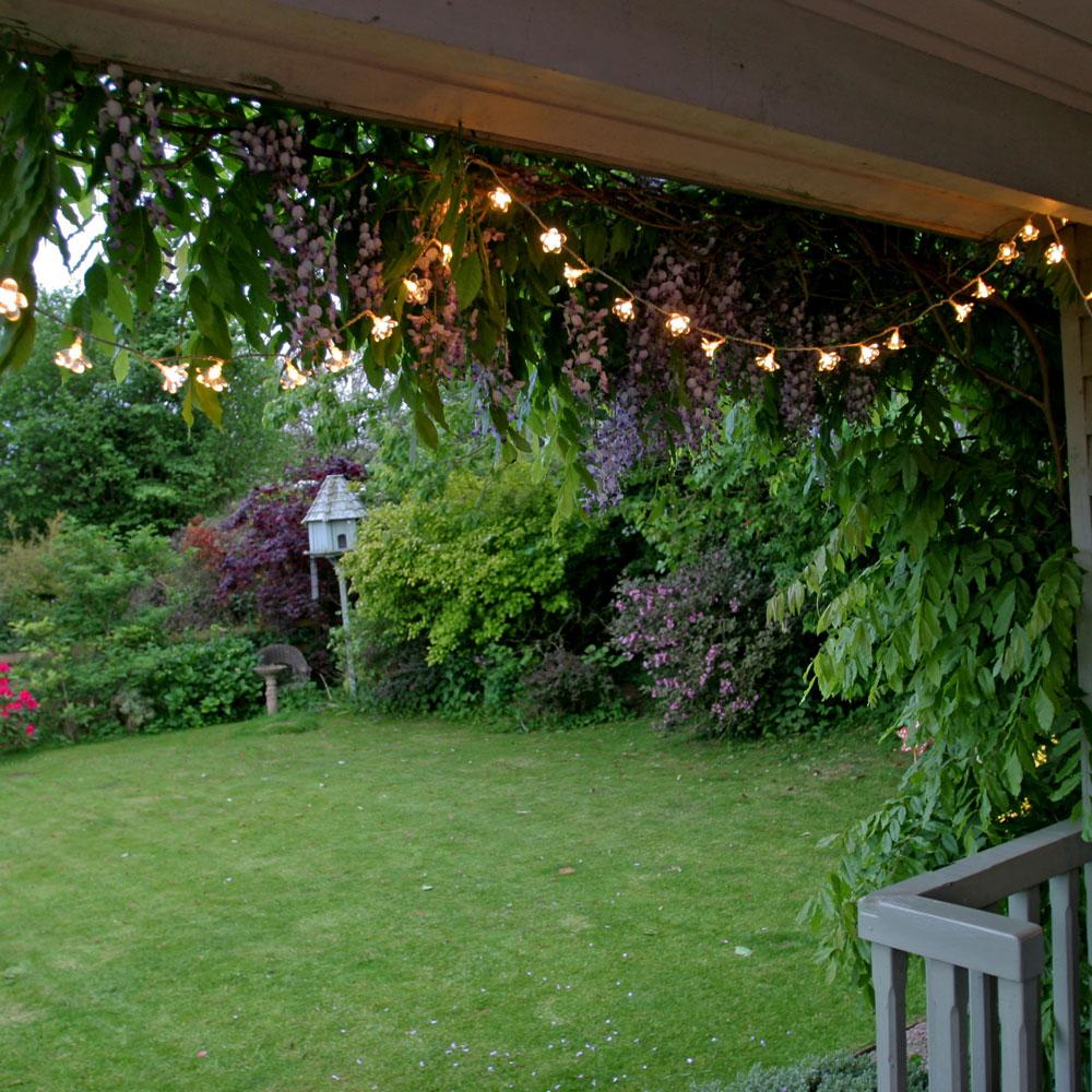 Gradini de basm: Solutii de iluminat pentru gradina: Ghirlanda luminoasa