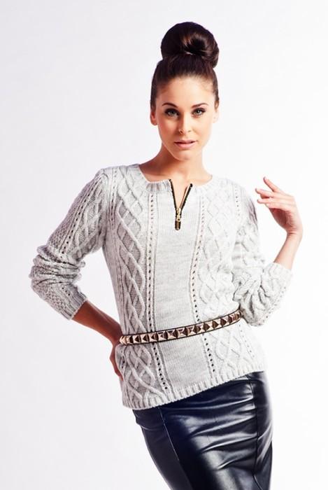 65637b0e9137 Pulover tricotat modern - Pulovere si cardigane tricotate calduroase ...