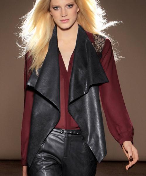 Shopping: 16 veste calduroase si moderne pentru iesirile in oras: Jacheta asimetrica