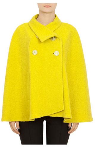 15 CAPE feminine: pentru un look deosebit: Pelerina Modas galbena din lana