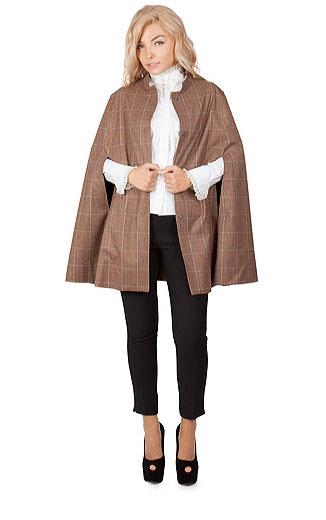 15 CAPE feminine: pentru un look deosebit: Pelerina Salla din lana in carouri