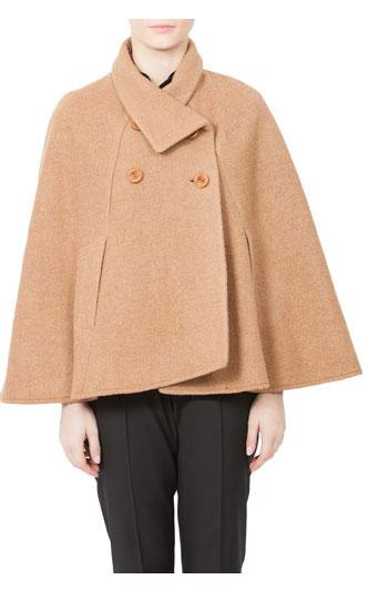 15 CAPE feminine: pentru un look deosebit: Pelerina Modas bej din lana
