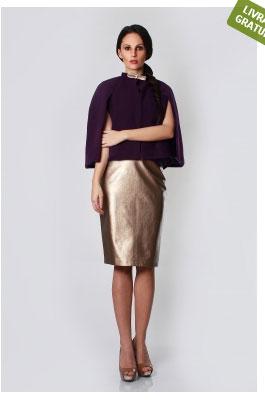 15 CAPE feminine: pentru un look deosebit: Capa Nicole Enea, culoare mov